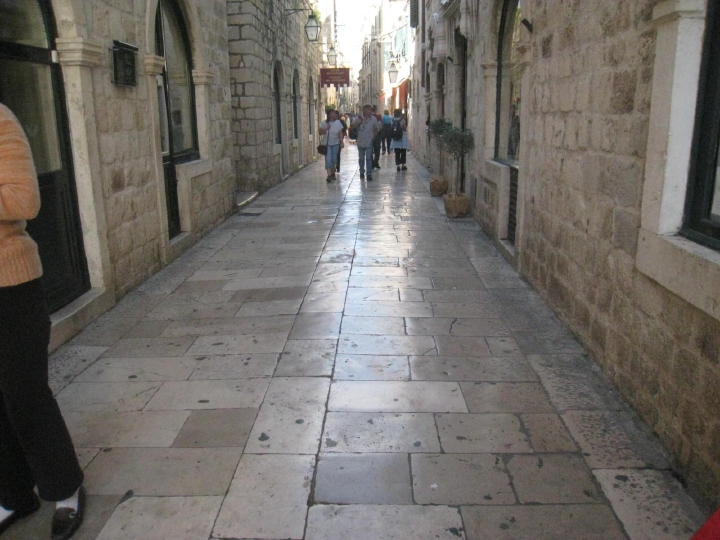 Photo 015... Dubrovnik's Marble Streets